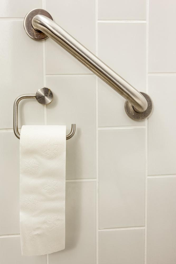 How to tell if you received proper grab bar installation for Elevator grab bars